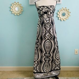 White House Black Market Silk Maxi Dress